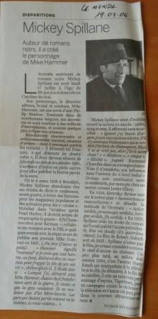 Mickey Spillane, Claude Mesplède